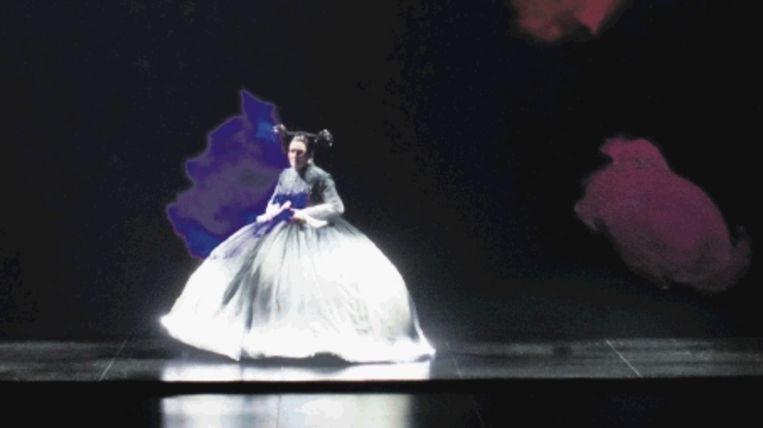 Keizerin Cixi (Marie Angel) in ‿Hÿtel de Pékin‿ bij de Nationale Reisopera (MARCO BORGGREVE) Beeld