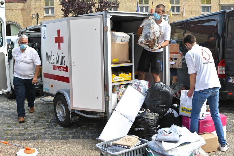 Ook in Wervik trok een golf van solidariteit zich op gang voor de slachtoffers van de zondvloed. Beeld Maxime Petit