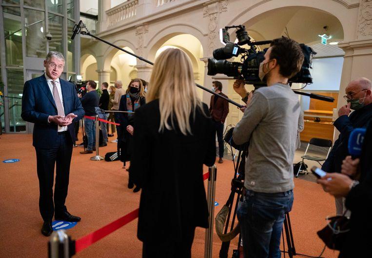 Minister Arie Slob voor Basis- en Voortgezet Onderwijs en Media (ChristenUnie) kondigde een nieuw landelijk onderzoek aan onder journalisten naar bedreiging.  Beeld ANP