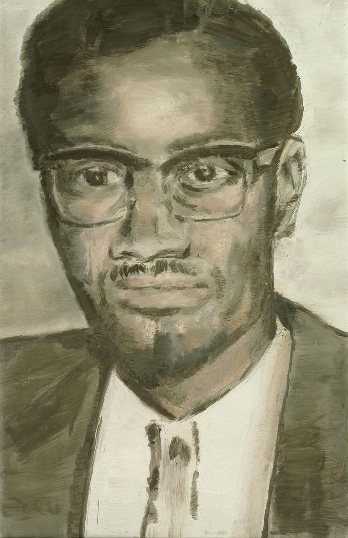 Luc Tuymans schilderde Lumumba  in close-up Beeld Luc Tuymans/Courtesy David Zwirner, New York