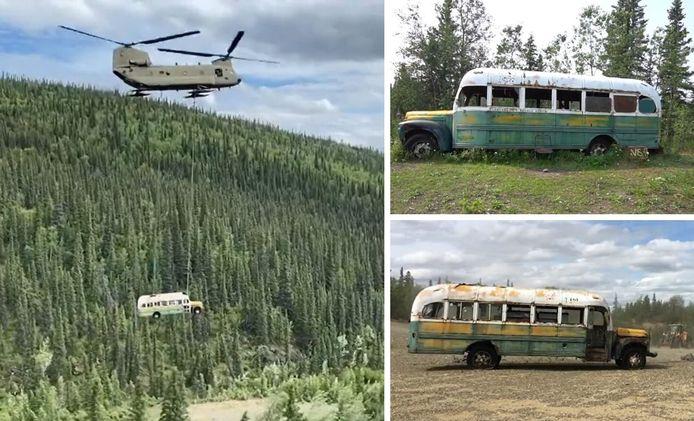 """Le """"Magic Bus"""" du livre et du film """"Into the wild""""."""