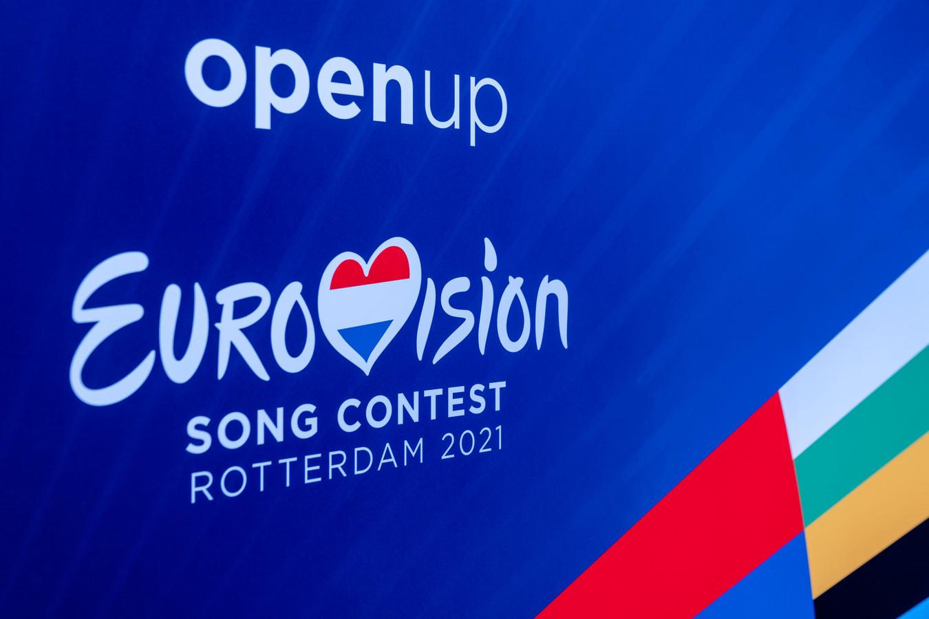 Het nieuwe logo voor het Songfestival 2021 in Ahoy.
