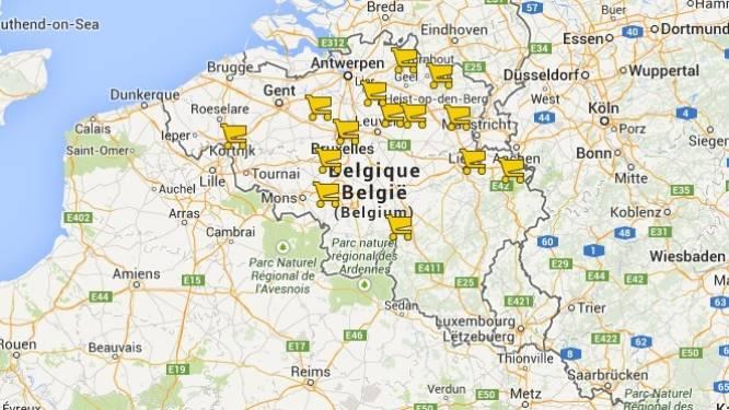 In kaart: Deze 14 Delhaize-vestigingen moeten sluiten