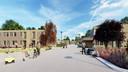 Artist's impression van het toekomstige azc in Almelo