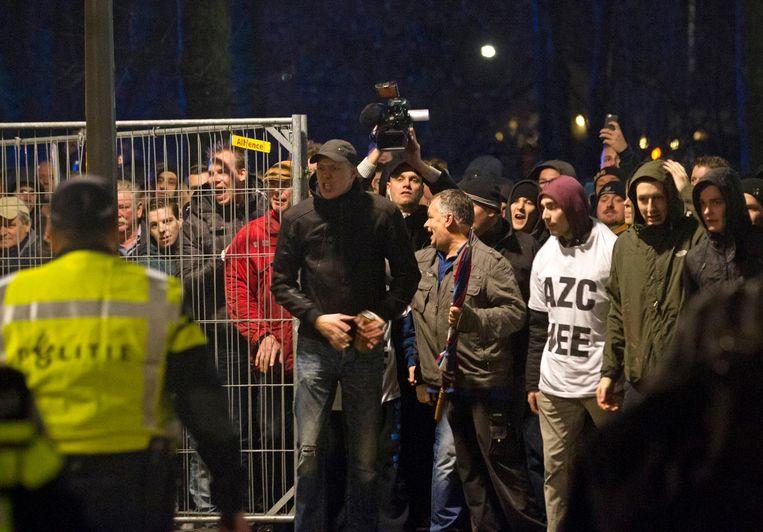 De rellen in Geldermalsen in december 2015. Beeld anp