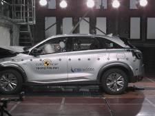 Waterstofauto belandt voor het eerst in botsproef en haalt vijf sterren