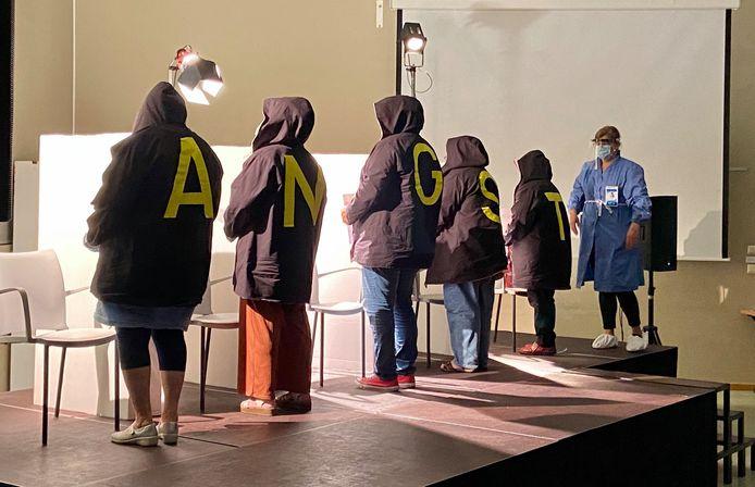 Angst vormde het thema van het theaterstuk 'Ik weet nog dat ik bang was...' van theatergezelschap Plankenkoorts