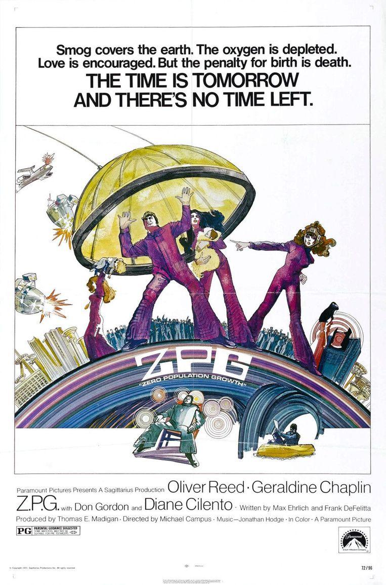 Filmposter van 'Zero Population Growth', 1972. Beeld RV