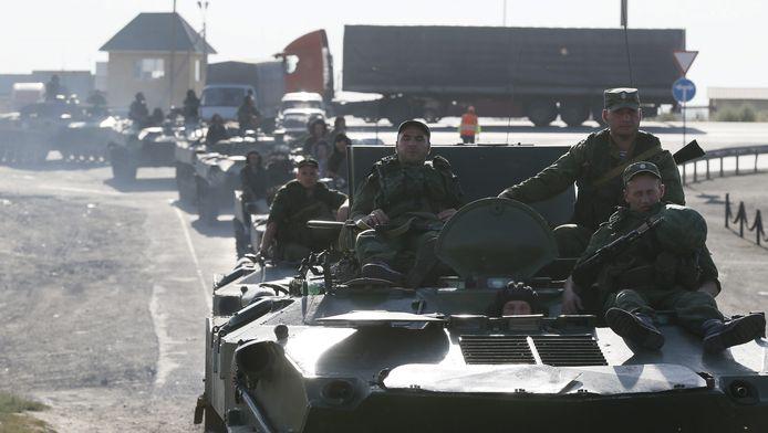 Les véhicules russes repérés par des journalistes et les forces ukrainiennes vendredi