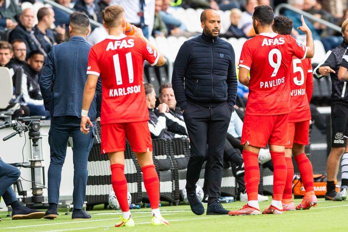 AZ-trainer Pascal Jansen tijden het duel met Heracles.