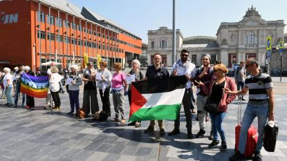 Stiltecirkel voor Palestijnen op Martelarenplein