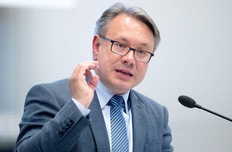Georg Nüsslein (CSU) streek door handel in mondkapjes 660 duizend euro aan provisie op.  Beeld AP