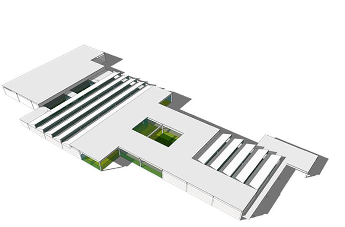 Impressie van de nieuwbouw voor WeenerXL op het voormalige Michelinterrein aan de Oude Vlijmenseweg.