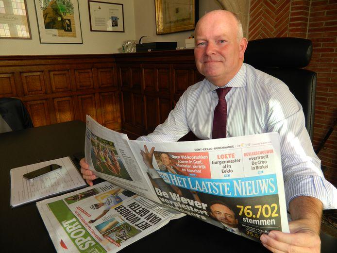 Koen Loete was tot eind december burgemeester van Eeklo, maar verloor de verkiezingen.