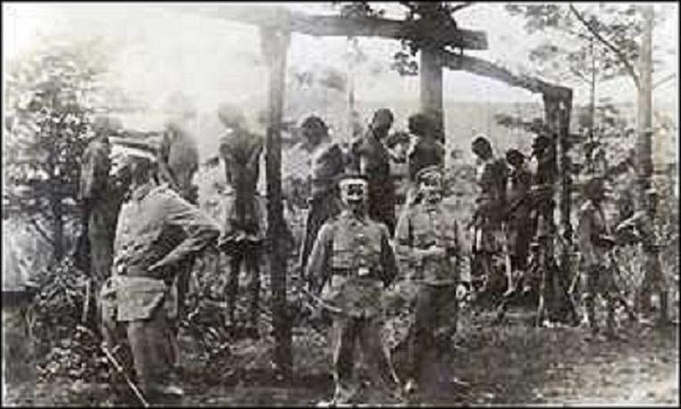 Standrechtelijke executies door het Duitse leger. Beeld nb