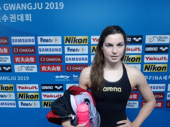 Lecluyse zwom in Gwangju haar beste tijd ooit op de 100m school.