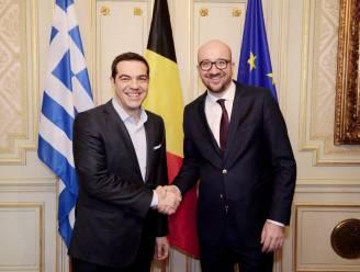 """Tsipras tegen Michel: """"We moeten oplossing vinden die democratie én Europese regels respecteert"""""""