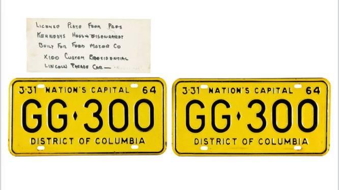 100.000 dollar voor nummerplaten van limousine waarin JFK vermoord werd