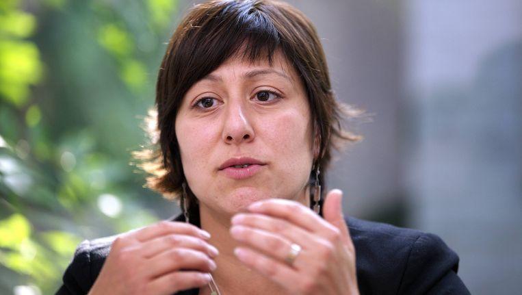 Meyrem Almaci, voorzitster van Groen. Beeld BELGA