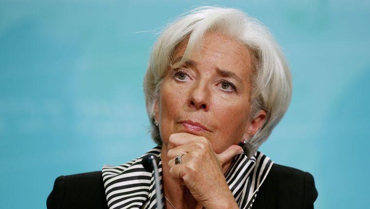 Christine Lagarde. Beeld