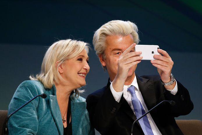 Marine Le Pen (FN) en Geert Wilders (PVV).