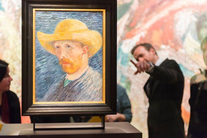 Eén van de zelfportretten van Vincent van Gogh in het Van Gogh Museum in Amsterdam.