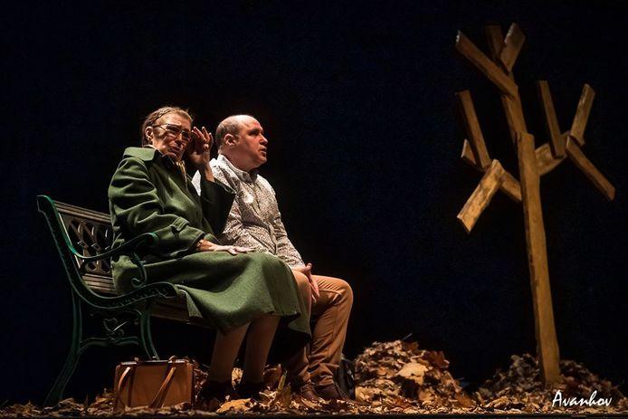 Een beeld uit de theatervoorstelling.