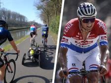 Trainen met Mathieu van der Poel: 'Hij haalt rond de 70, sneller gaat mijn brommertje niet'