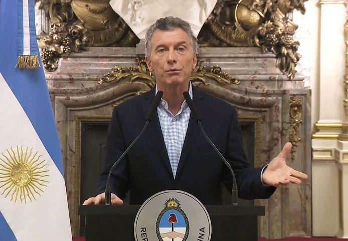 De Argentijnse president Mauricio Macri.