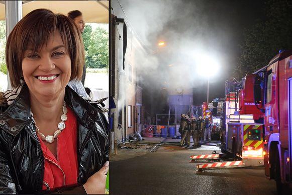 Carine kwam om bij een woningbrand in de Wulmersumsesteenweg.