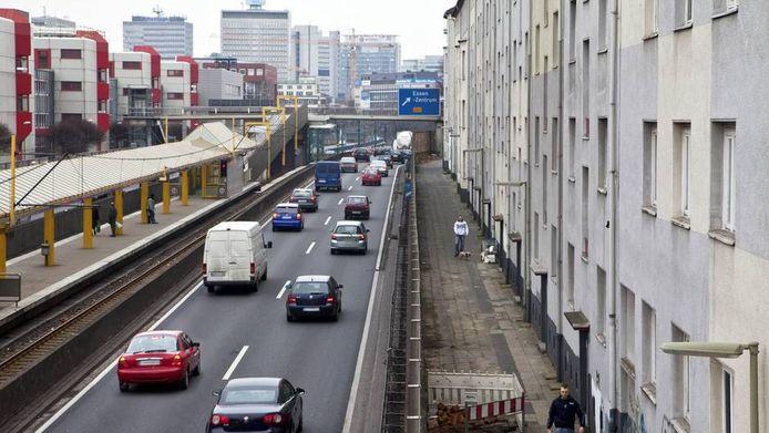 De A40 in Essen