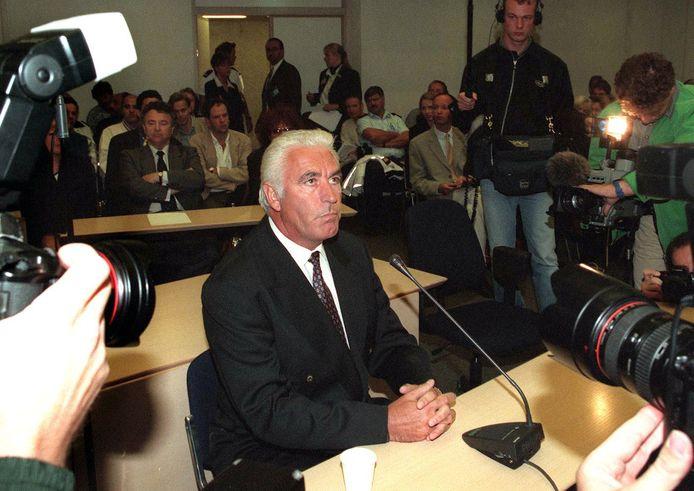 Marco Bakker in 1998 in de Amsterdamse rechtbank.