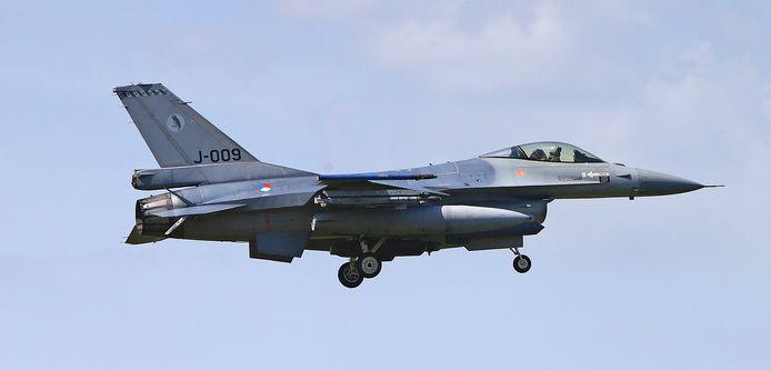 F-16 van de vliegbasis Leeuwarden.