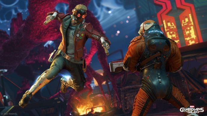 De Guardians of the Galaxy zijn met vijf, maar je bestuurt er maar eentje: Peter 'Star-Lord' Quill.