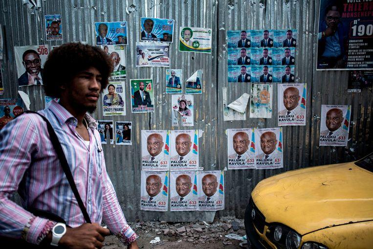 In de Lingwala-wijk in de hoofdstad Kinshasa. Beeld AFP