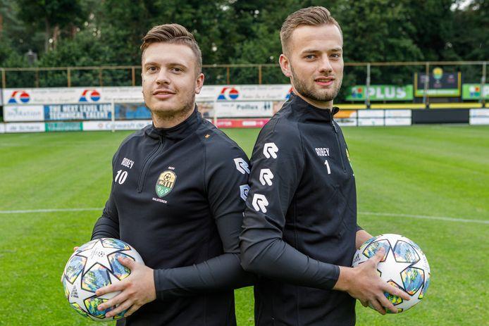 Halsteren-spelers Maurice Lindhout en Richard Elenbaas.