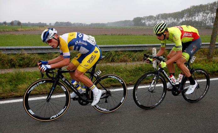 Thimo Willems (met Ludovic Robeet in het wiel) is klaar voor de GP Vermarc.