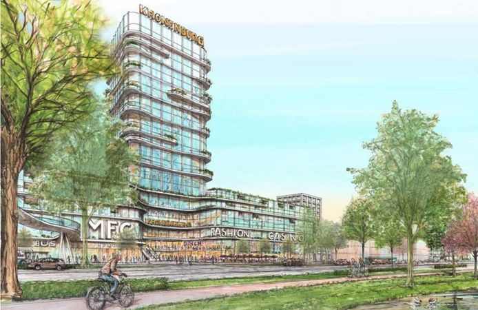 Impressie van het nieuwe winkelcentrum Kronenburg in Arnhem.