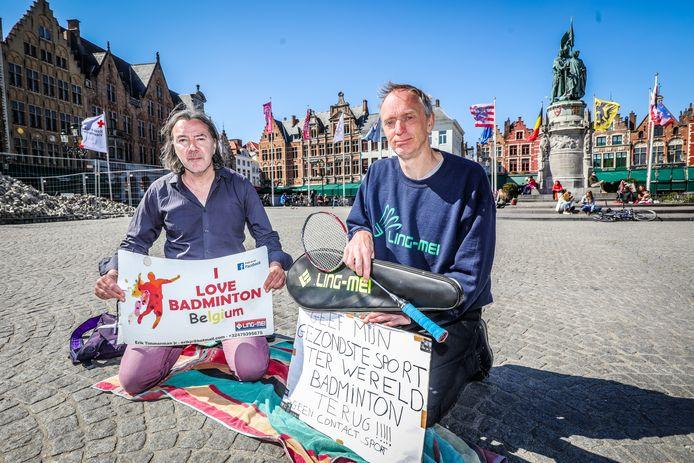 Jean Marc Mosar en Erik Timmerman op de Brugse Markt.