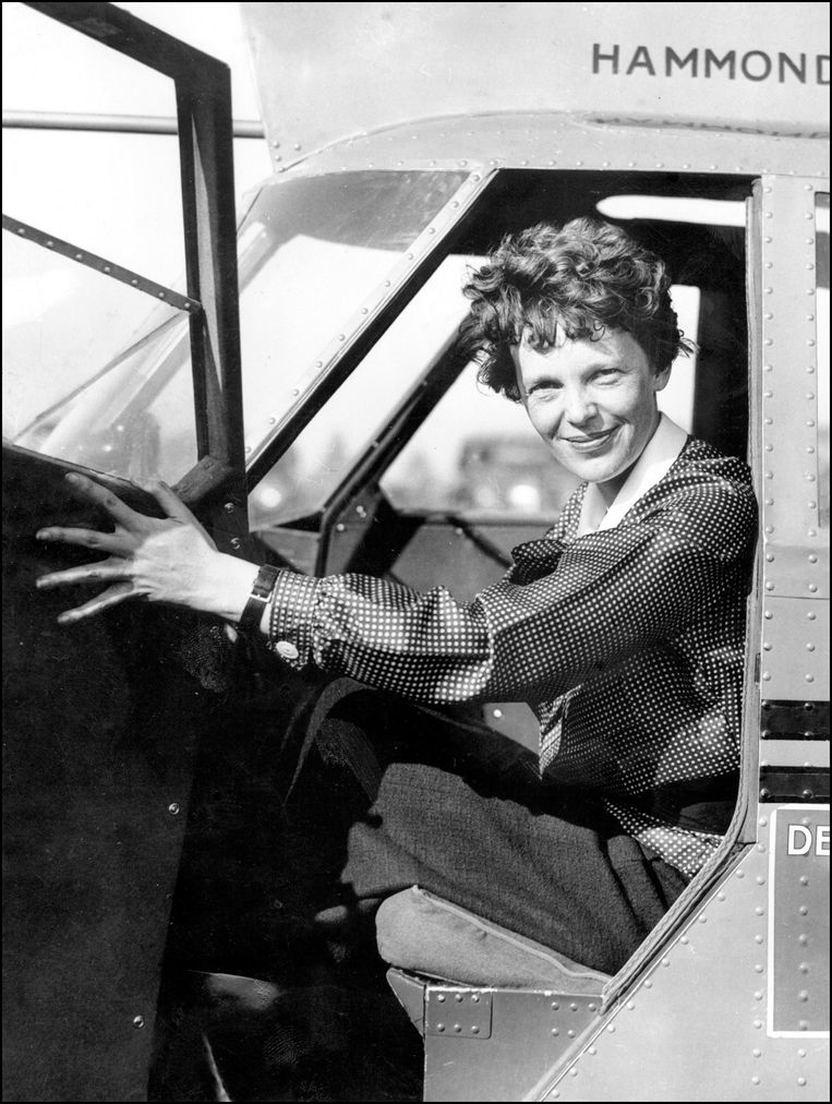 Amelia Earhart. Beeld Photo News