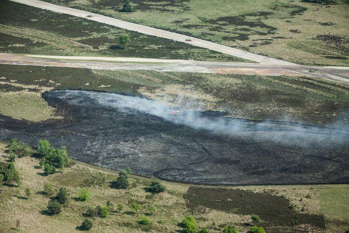 Het militair schietterein bij brandoefeningen in 2019