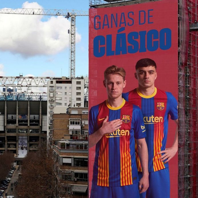 Frenkie de Jong en Pedri in Madrid.