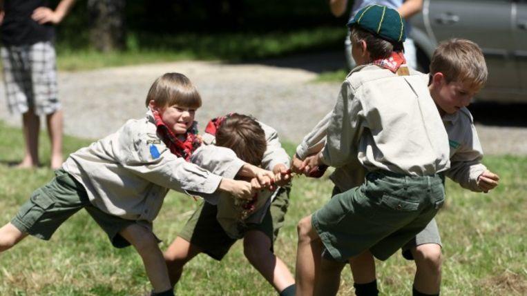 De Scouts gaan op zoek naar de sterkste of stoerste inwoner van Oudegem.