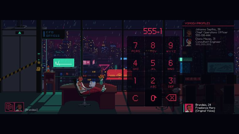 Technoparabel 'The Red Strings Club' was de beste indiegame van het jaar. Beeld Devolver Digital
