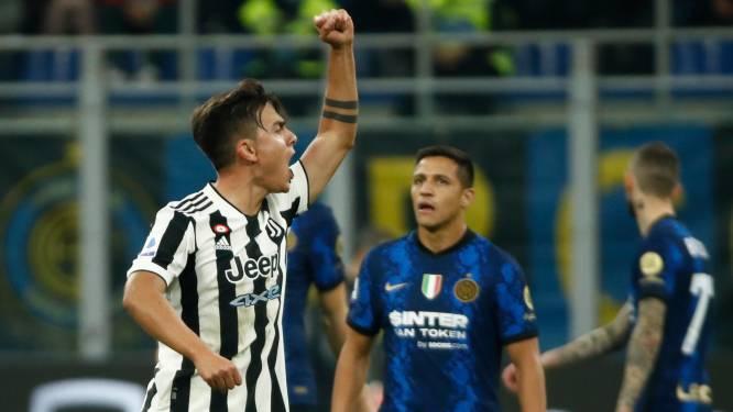Juventus ontsnapt in slotfase vanop de stip aan nederlaag in topper tegen Inter