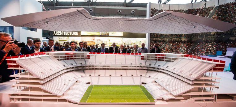 Een nekschot voor het Eurostadion. Voor Ghelamco is het terug naar af. Beeld BELGA