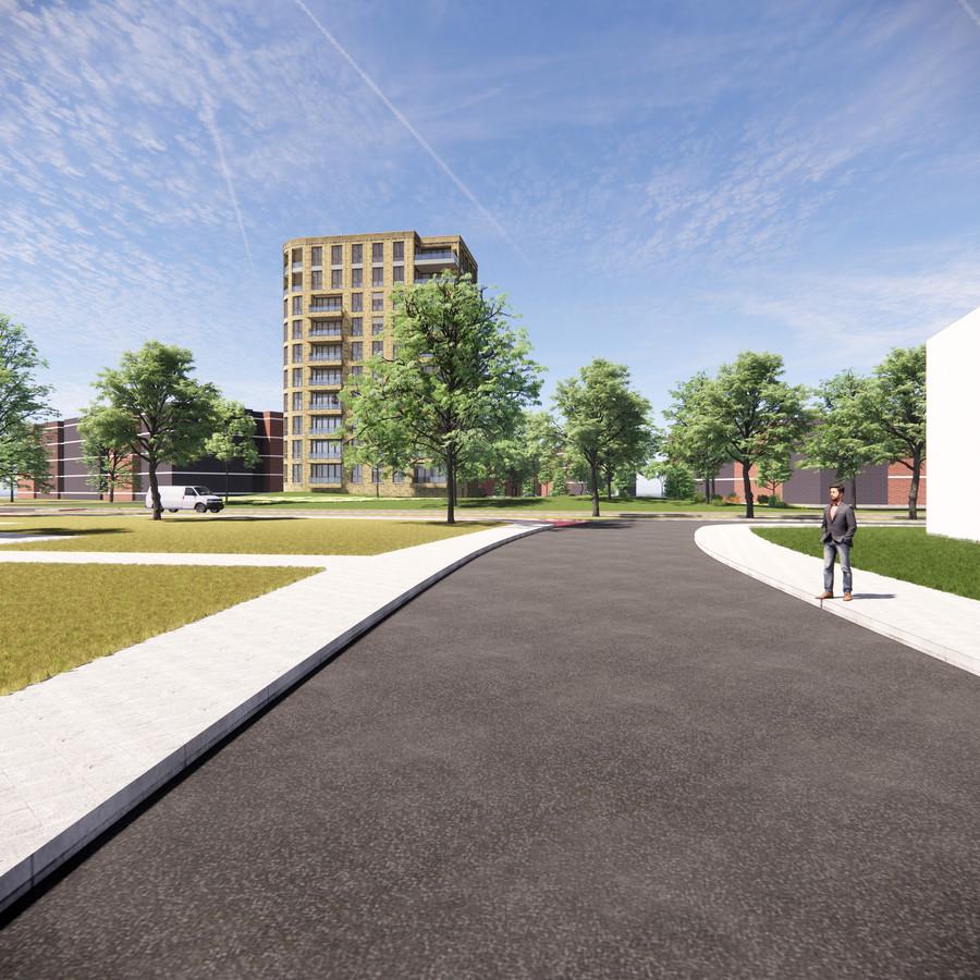 Conceptplan voor de woontoren aan het Noordeinde in Zevenaar.