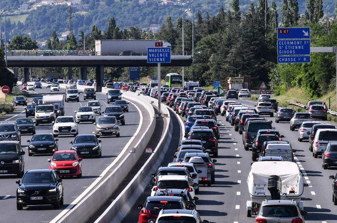 De A7 in het zuidoosten van Frankrijk.