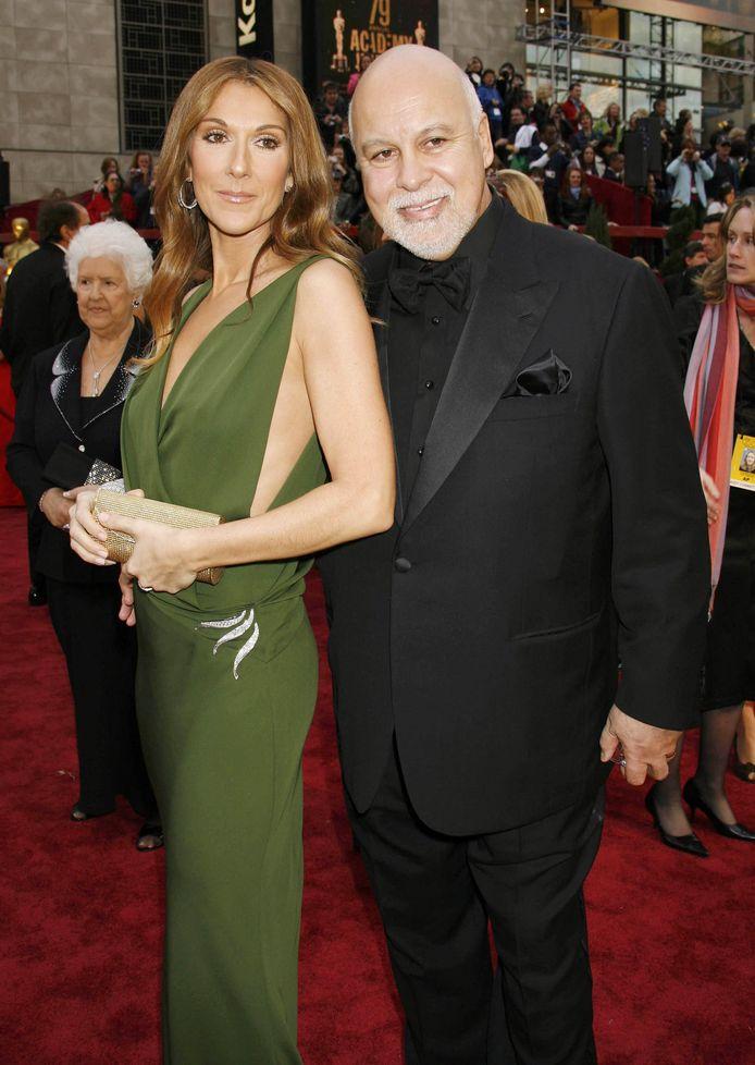 Céline Dion et son mari René en 2007.