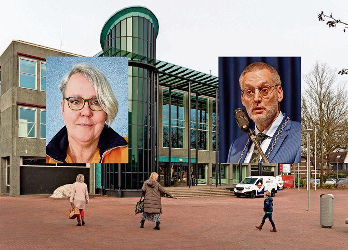 De manier waarop burgemeester Tom Horn (r) in Epe de communicatie met de burgers wil vormgeven, valt totaal verkeerd bij VVD-fractievoorzitter Ellis de Vries (l).